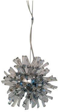 Linea Twelve Light Crystal Chandelier in Chrome
