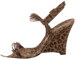 Brian Atwood Suede Wedge Sandals $130 thestylecure.com
