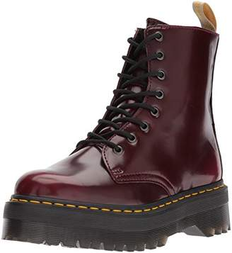 Dr. Martens Unisex Jadon Vegan Cherry Red Quad Cambridge Brush Boots