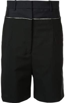 Jil Sander contrast trim shorts