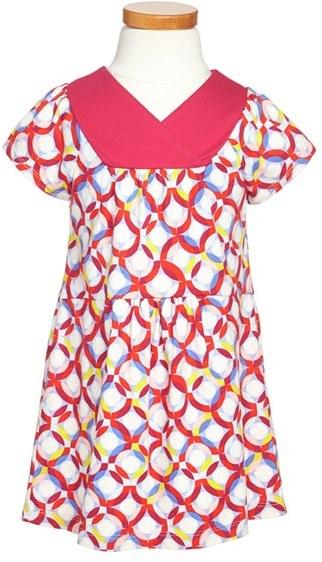 Tea Collection 'Gunta's Circles' Wrap Dress (Toddler Girls, Little Girls & Big Girls)