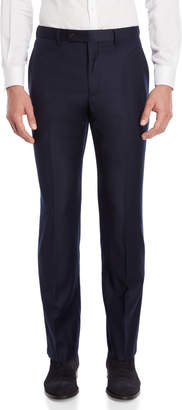 Lauren Ralph Lauren Navy Wool Flannel Dress Pants