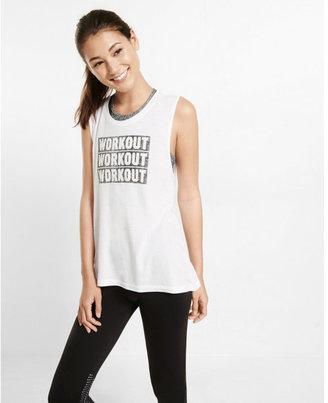 Express EXP core workout graphic muscle tank $29.90 thestylecure.com