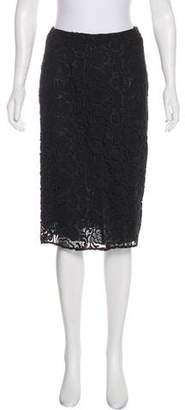 Prada Lace Knee-Length Skirt