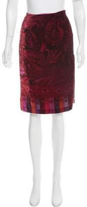 Etro Velvet Abstract Skirt