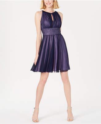 Jessica Howard Embellished Keyhole Halter Dress