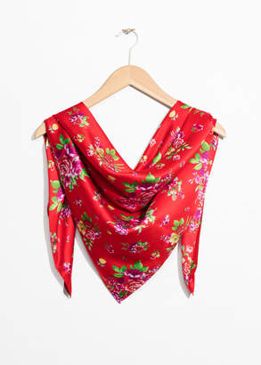 Floral Print Triangle Scarf