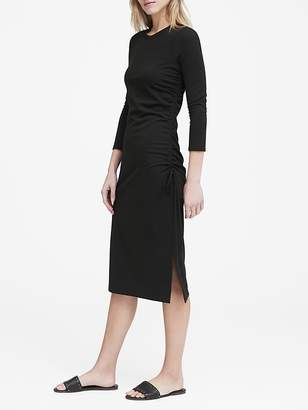 Banana Republic Soft Ponte Ruched T-Shirt Dress