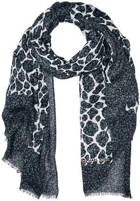 MICHAEL Michael Kors Layered Graphic Leopard Oblong Scarves