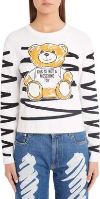 Moschino Scribble Teddy Sweater