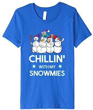 Chillin' With the Snowmies! Snowman Gift T-Shirt