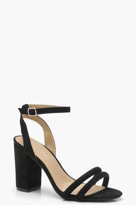 boohoo Double Band Ankle Strap Heels