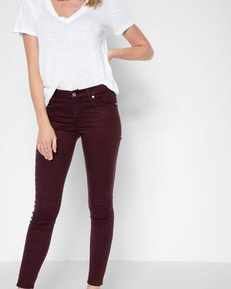 7 For All Mankind B(air) Color Ankle Skinny in Mulberry