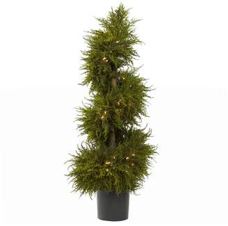 Nearly Natural nearly natural Pre-Lit Cedar Spiral Topiary - Indoor