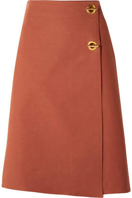 Tory Burch Ruth Stretch Cotton-blend Wrap Skirt - Antique rose