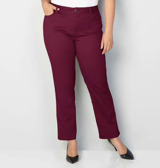 Avenue Butter Denim Straight Leg Jean in Wine