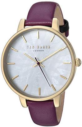 Ted Baker Women's Quartz Stainless Steel and Leather Casual Watch