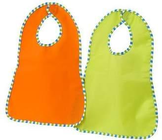 Ikea Plastic Bib, green, orange (KLADD RANDIG)