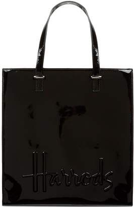 Harrods Large Patent Logo Tote