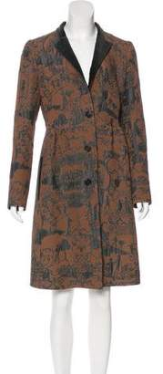 Etro Jacquard Knee-Length Coat