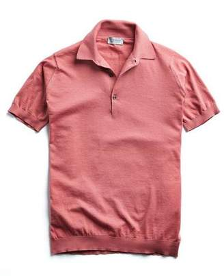 John Smedley Sweaters Sea Island Cotton Polo in Azalea Pink