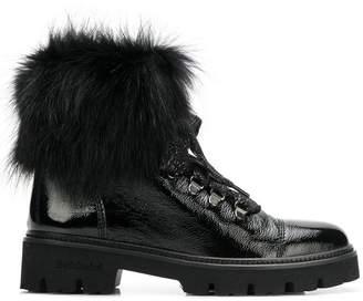 Baldinini fur lining ankle boots