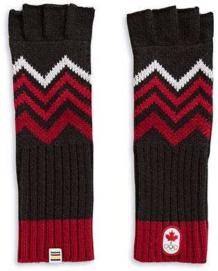 CANADIAN OLYMPIC TEAM COLLECTION Adult Mountain Top Fingerless Gloves