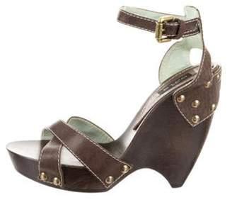 Etro Platform Ankle Strap Sandals bronze Platform Ankle Strap Sandals