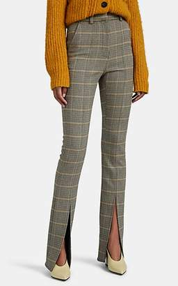 A.L.C. Women's Edwin Plaid Ankle-Slit Trousers - Green
