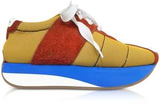 Marni Ochre And Rust Tech Fabric Big Foot Sneakers