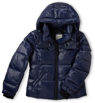 S13 Toddler Girls) Down Glossy Puffer Jacket