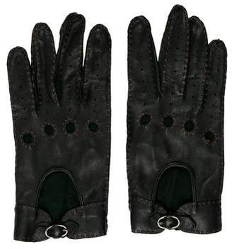 Ralph Lauren Leather Biker Gloves