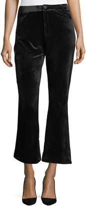Goldie London Velvet Bell-Bottom Pants