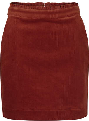 f50c9452d Oliver Bonas Festival Cord Camel Mini Skirt