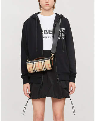 Burberry Logo-embroidered cotton-jersey hoody