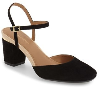 Calvin Klein 'Ciley' Ankle Strap Pump (Women) $109.95 thestylecure.com