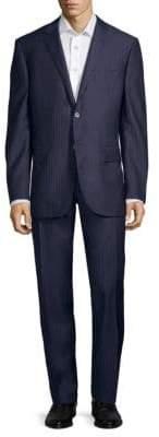 Corneliani Pinstripe Slim-Fit Wool Suit