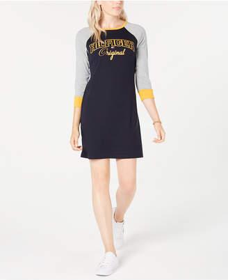 Tommy Hilfiger Raglan-Sleeve Cotton T-Shirt Dress