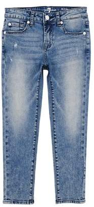 7 For All Mankind Kids Girls 4-6X The Ankle Skinny Jean Authentic Sonar