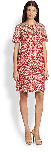 Max Mara Favola Short-Sleeve Shift Dress