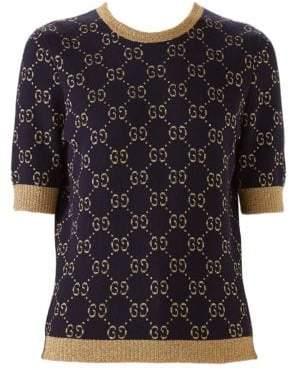Gucci GG Cotton Lurex Knit