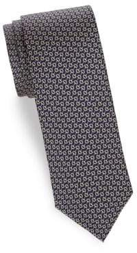 Saks Fifth Avenue Horse Bit Silk Tie