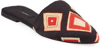 Natori Printed Satin Mule Slippers