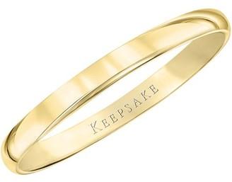 Keepsake 14kt Yellow Gold Plain Wedding Band, 3mm