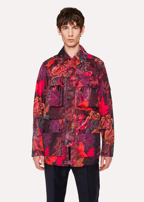 Paul Smith Men's 'Ocean' Print Micro-Ripstop Field Jacket