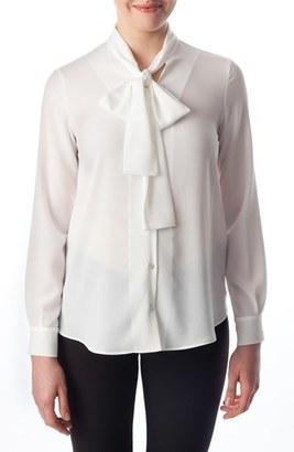 Women's Pietro Brunelli 'Calla' Tie Neck Maternity Blouse $121 thestylecure.com