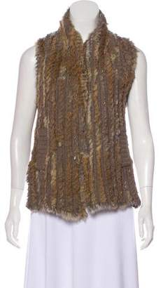 Marc by Marc Jacobs Open Front Fur Vest