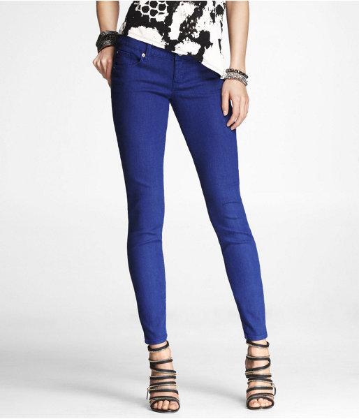 Express Stella Colored Jean Legging-Cobalt Blue