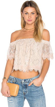 Endless Rose Off The Shoulder Lace Top in Blush $60 thestylecure.com