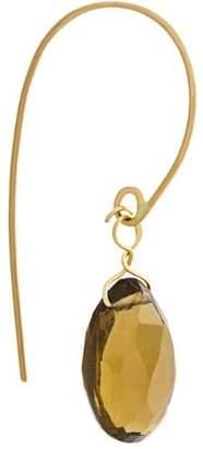 Uzerai Edits smoked quartz earring